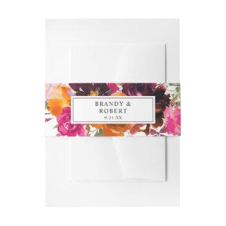 Orange, Hot Pink, & Purple Fall Floral 1   Belly Band