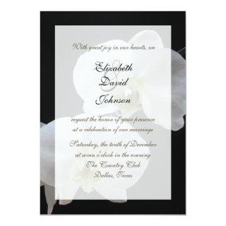 Orchid Marriage Reception Only Wedding Invitations