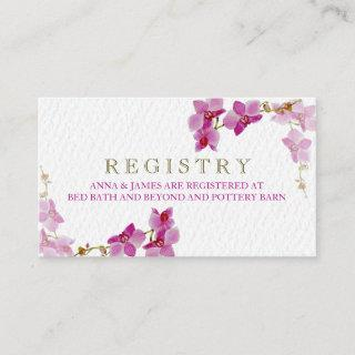 Orchid Paradise Wedding Registry Card