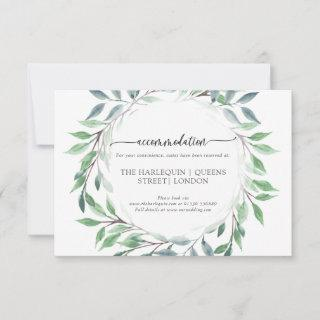 Organic Woodland Vintage Wreath RSVP Card