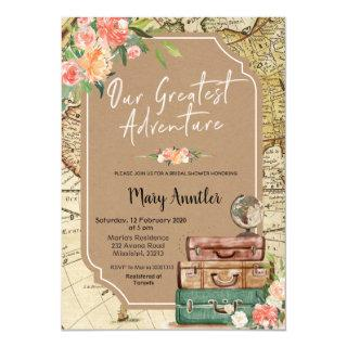 Our Greatest Adventure Bridal Shower Invitation