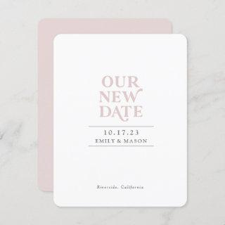 Our New Date, Minimalist, Modern, Save date card