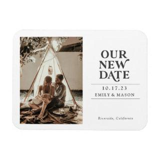 Our New Date, Minimalist, Modern, Save date Magnet