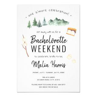 Outdoor Camping Bachelorette Weekend Itinerary Invitations