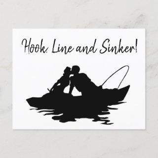 Outdoors Fisherman Save the Date Announcement Postcard
