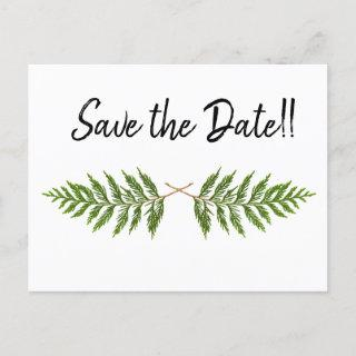 Outdoors Save the Date Announcement Postcard