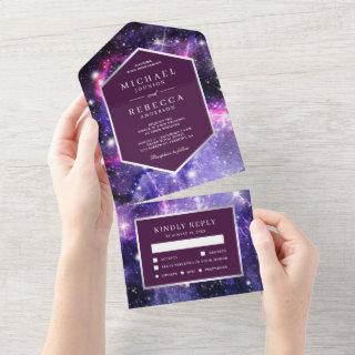 Outer Space Universe Purple Galaxy Wedding All In One