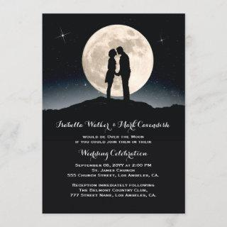 Over the Moon Starry Night Wedding Invitations
