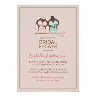 Owl Bride & Groom Sweet Bridal Shower Invitations