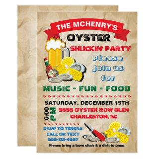 Oyster Shucking Party Invitations