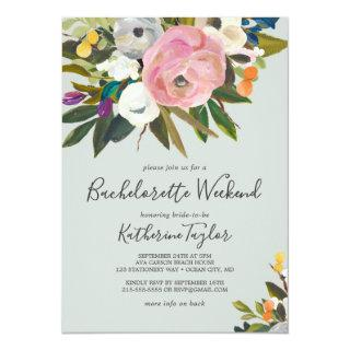 Painted Floral Bachelorette Weekend Invitations