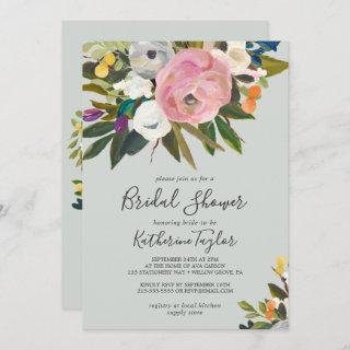 Painted Floral Bridal Shower Invitation