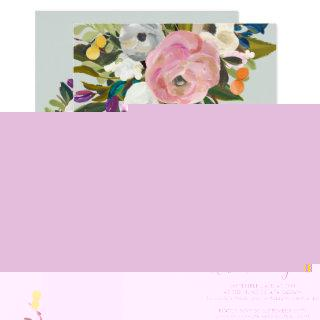 Painted Floral Brunch and Bubbly Invitations