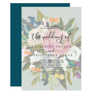 Painted Floral | Faded The Wedding Of Invitation