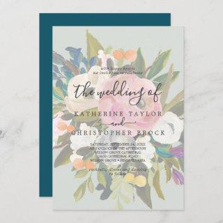Painted Floral | Faded The Wedding Of Invitations