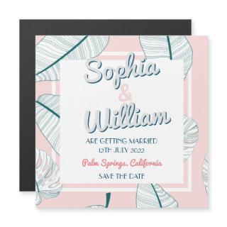 Palm Springs Paradise Wedding Save The Date Magnet