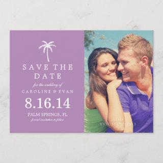 Palm Tree Photo Wedding Save the Date {violet}