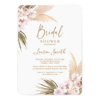 Pampas Grass bridal shower Invitations