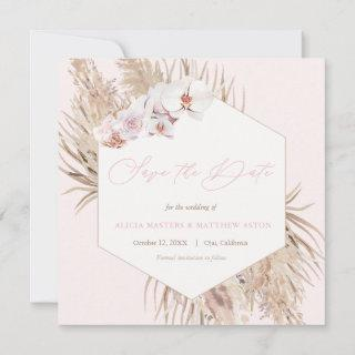 Pampas Grass Dried Palm Leaves Barefoot Wedding Save The Date