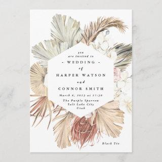 Pampas Grass Floral Tropical Jungle Invitation