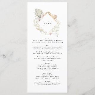 Pampas Grass Tropical Jungle Floral Wedding Menu