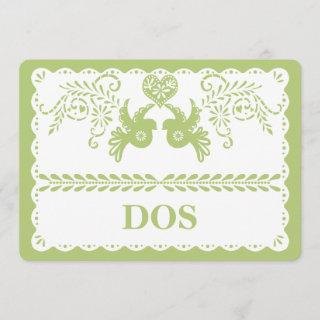 Papel Picado Dos Two Table Number Gold Fiesta