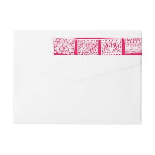 Papel Picado Hot Pink | Return Address Wrap Label