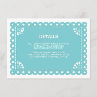 Papel Picado Insert Card - Blue