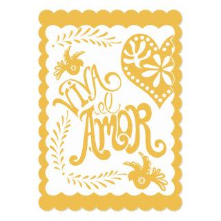 Papel Picado Mexican Fiesta Wedding Banner Theme Invitations