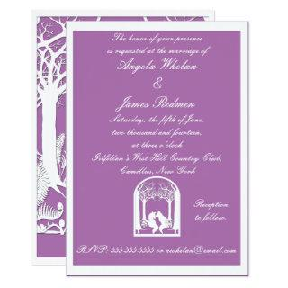 Paper Foxes in Radiant Orchid Invitation