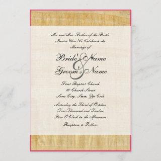 Papyrus Paper Wedding Invitations
