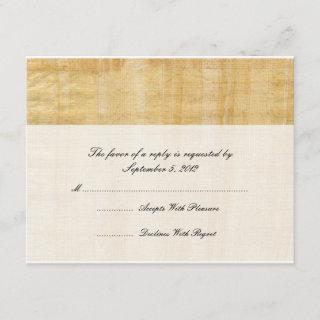 Papyrus Paper Wedding RSVP