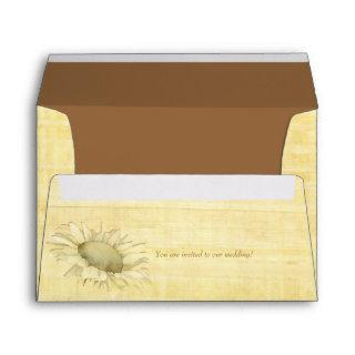 Papyrus Sunflower Wedding Invitations Envelope