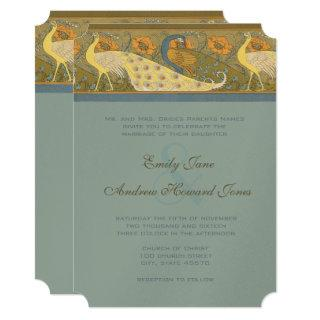 Parade Art Nouveau Peacock Bird Wedding Invitations