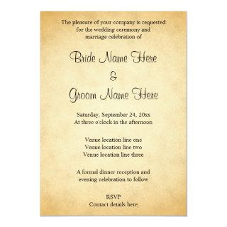 Parchment Pattern Design Wedding Invitations