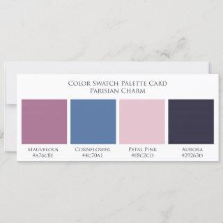 Parisian Charm Wedding Color Swatch Palette Card