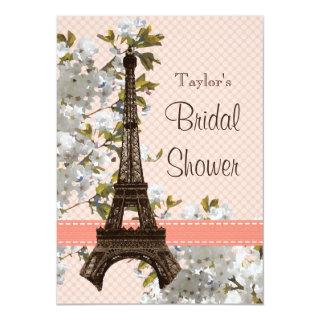 Parisian Eiffel Tower Bridal Shower Invitations