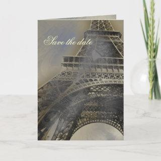 Parisian french wedding save the date announcement