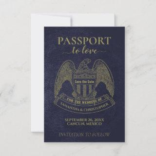 Passport to Love Fun Destination Wedding Save The Date