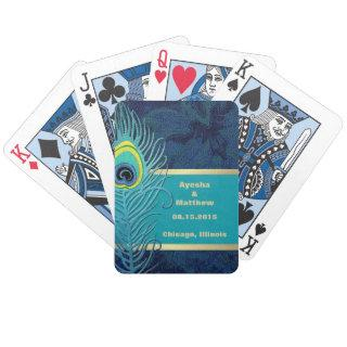 Peacock Feather Design Custom Gift Playing Cards