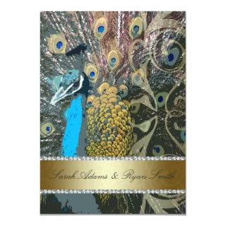 Peacock with Jewels Rehearsal Dinner Invitations