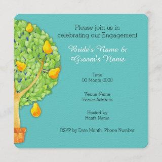 Pear Tree teal Square Engagement