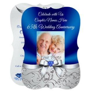 Pearl Shimmer 65th Wedding Anniversary Invitations