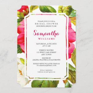 Peony Garden Floral | Bridal Shower Party Invite