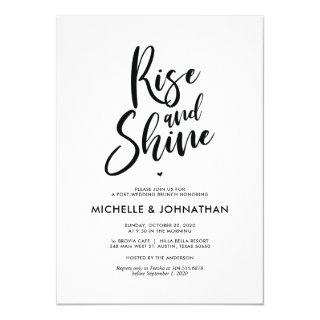 Perfect Calligraphy Post Wedding Brunch Invites