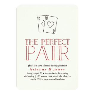 Perfect Pair Casino Engagement Party Invitation