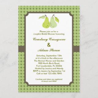 Perfect Pair Couple's Bridal Shower Invitations