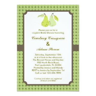 Perfect Pair Couple's Bridal Shower Invitation