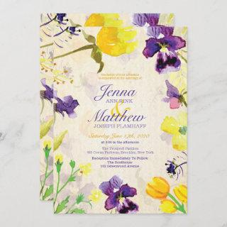 Perfect Pansies Wedding Invitations