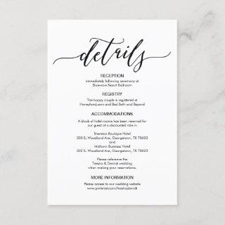 Perfect Wedding Details Enclosure Card
